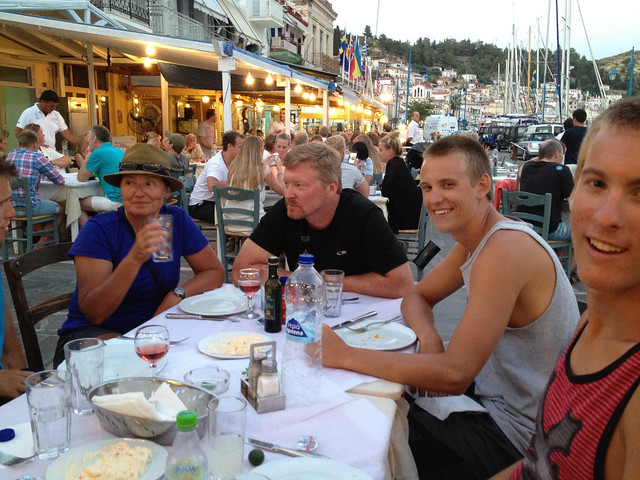 Dinner at the Oasis Taverna in Poros