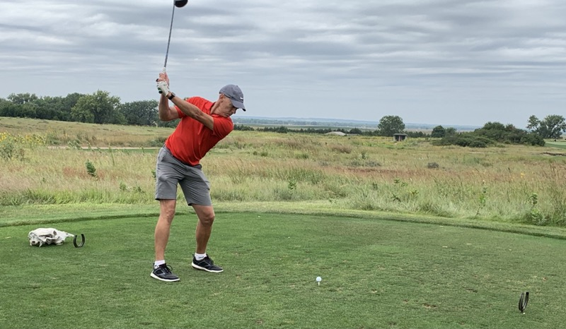 Chris teeing off at Wild Horse